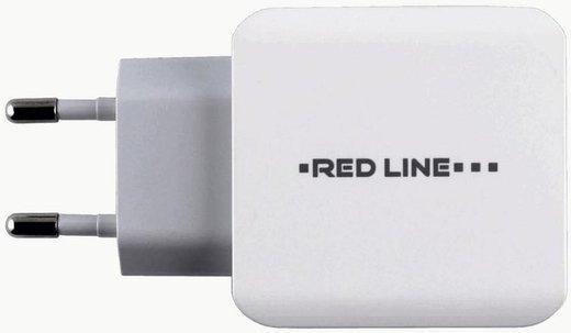 СЗУ адаптер 3 USB (модель Y3) 3.1A Fast Charge белый, Redline фото