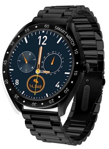 Умные часы Xanes F13, стальной ремешок, черный фото