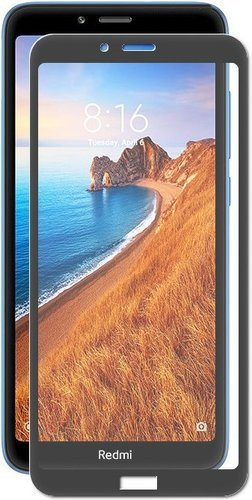 Защитное стекло для Xiaomi Redmi 7A Full Screen Full Glue черный, BoraSCO фото