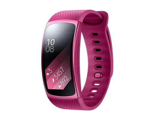 Умный браслет Samsung Gear Fit 2, красный фото