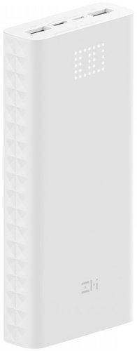 Внешний аккумулятор Xiaomi Mi Power Bank ZMI Aura 20000 mAh Micro USB/Type-C QB821 белый фото