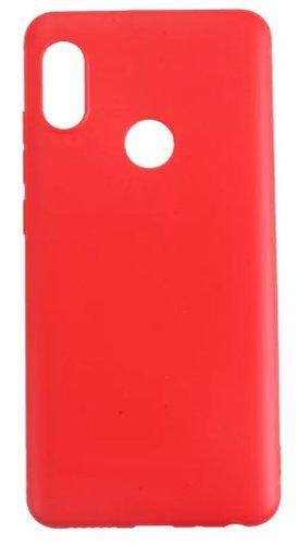Чехол для смартфона Xiaomi Redmi Note 5 силиконовый (матовый) красный, BoraSCO фото