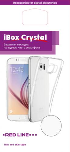 Чехол для смартфона Samsung Galaxy A8 (2018) Silicone iBox Crystal (прозрачный), Redline фото