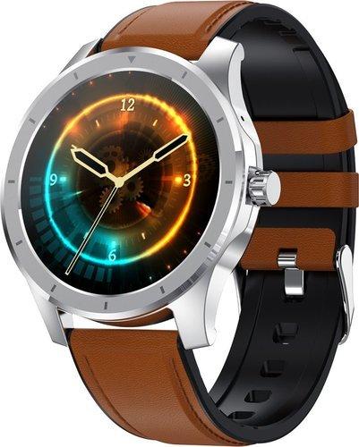 Умные часы Bakeey MX10, кожаный ремешок, коричневый фото