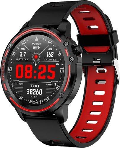 Умные часы Bakeey L8, IP68, красный фото