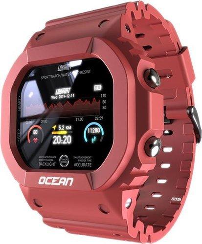 Умные часы Lokmat Ocean, водонепроницаемые, красный фото