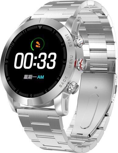 Умные часы DT No.1 S10, стальной ремешок, серебристый фото