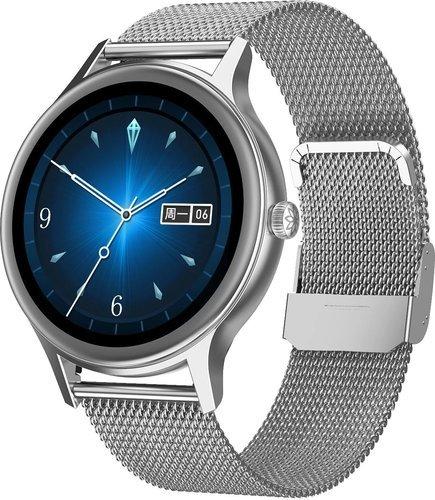 Умные часы DT No.1 DT66, стальной ремешок, серебристый фото