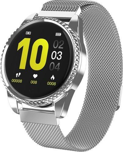 Умные часы Lynwo BT01, стальной ремешок, серебристый фото