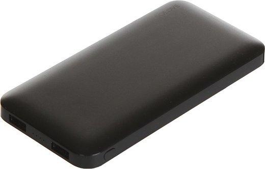 Внешний аккумулятор Xiaomi (Mi) SOLOVE 10000 mAh с 2xUSB выходом, кожаный чехол (001M Back), черный фото