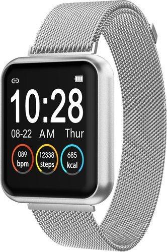 Умные часы Bakeey P90, стальной и силиконовый ремешок, серебристый фото