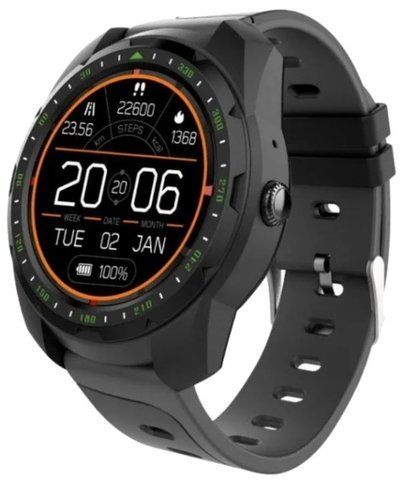 Умные часы KingWear KW01, черные фото