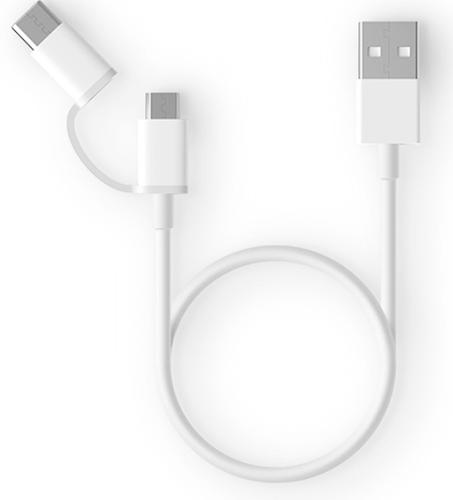 Кабель Xiaomi ZMI 2 in1 USB Type-C/Micro 100 см (AL501) белый фото