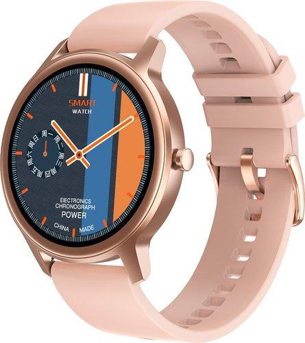 Умные часы DT No.1 DT56, силиконовый ремешок, розовый фото