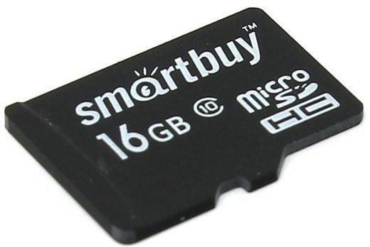 Карта памяти Smartbuy microSDHC 16GB Class 10 UHS-I с адаптером SD фото