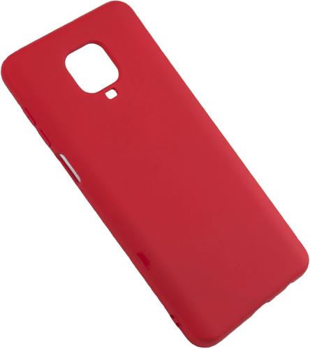 Чехол-накладка для Xiaomi Redmi Note 9S/9 Pro красный, Microfiber Case, Borasco фото