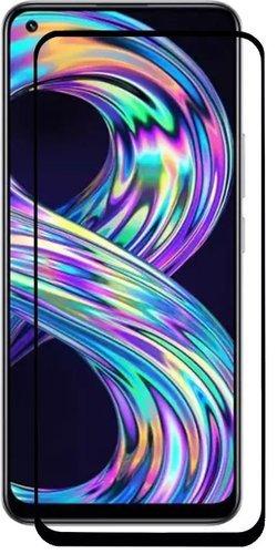 Защитное стекло для Realme 8 Full Screen FULL GLUE черный, Redline фото