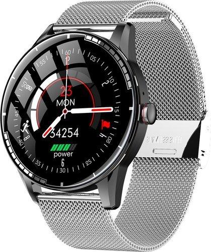 Умные часы Bakeey H6, стальной ремешок, серебристый фото