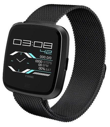 Умные часы NO.1 G12 черные, ремешок сталь фото