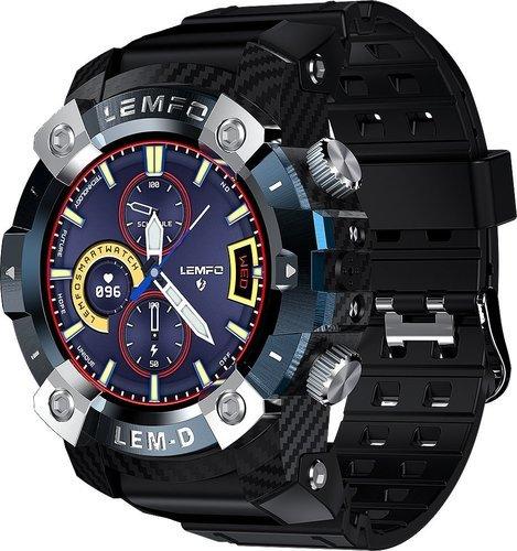 Умные часы Lemfo Lemd TWS, синий фото