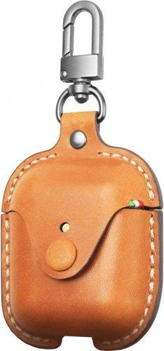 Чехол кожанный Cozistyle для наушников Apple AirPods 1/2, коричневый фото