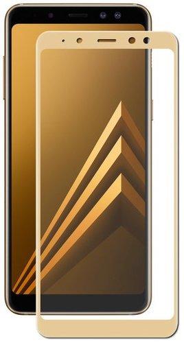 Защитное стекло для Samsung Galaxy A6 Plus (2018) Full Screen золотистый, Redline фото