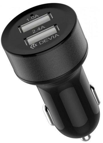 АЗУ Devia Smart Car Charger (2 USB), черный фото