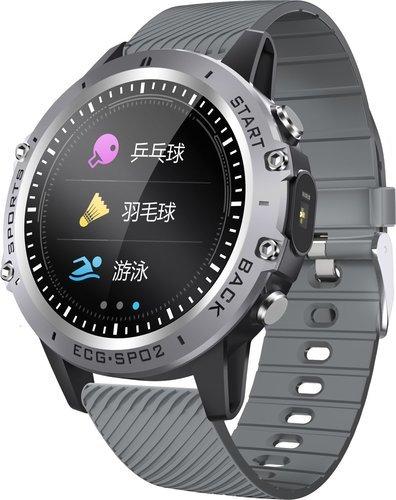 Умные часы Bakeey P8, силиконовый ремешок, серый фото