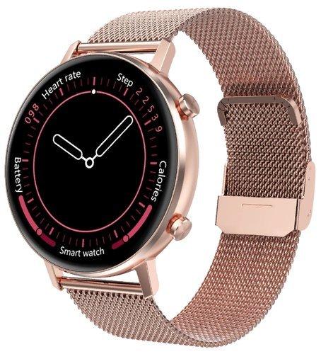 Умные часы DT No.1 DT96, стальной ремешок, розовое золото фото