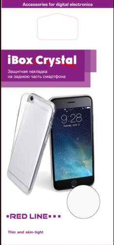 Чехол для смартфона Apple iPhone X Silicone iBox Crystal (прозрачный), Red Line фото