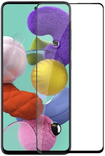 Защитное стекло для Samsung Galaxy A51 Full Screen Full Glue черный, Redline фото