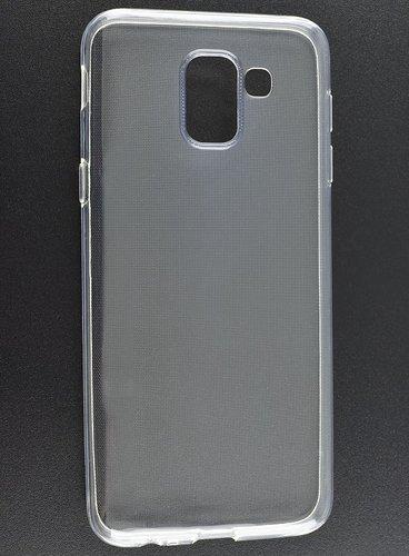 Чехол для смартфона Samsung Galaxy J6 (2018) Silicone iBox Crystal (прозрачный), Redline фото