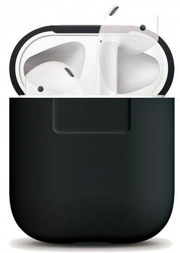 Чехол Elago Silicone case для AirPods (EAPSC), черный фото
