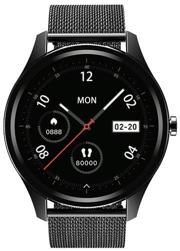 Умные часы DT No.1 DT55, стальной ремешок, черный фото
