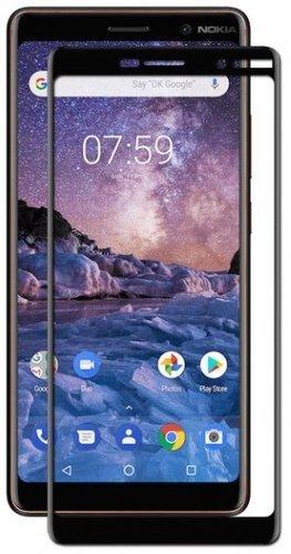 Защитное стекло для Nokia 7 Plus Full Screen черный, TFN фото
