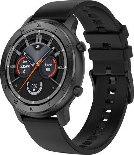 Умные часы DT No.1 DT89, силиконовый ремешок, черный фото