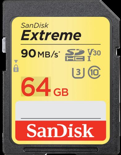 Карта памяти SanDisk Extreme Plus SDHC 64GB Class10 UHS-I U3 V30 90Mb/s фото