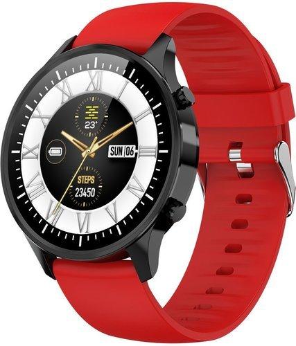 Умные часы Bakeey G21, силиконовый ремешок, красный фото