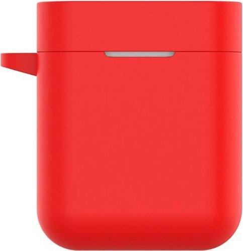 Чехол силиконовый для наушников Xiaomi AirDots Pro, красный фото