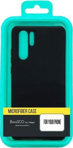 Чехол-накладка для Xiaomi Poco F2 Pro черный, Microfiber Case, Borasco фото