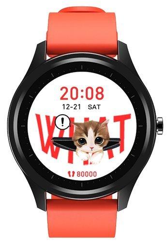 Умные часы DT No.1 DT55, силиконовый ремешок, оранжевый фото
