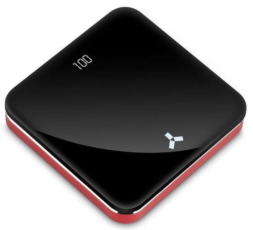 Внешний аккумулятор Accesstyle Carmine 8MP 8000 мА-ч, 2 подкл. устройства, черный/красный фото