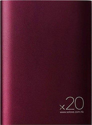 Внешний аккумулятор Xiaomi (Mi) SOLOVE 20000 mAh с кожаным чехлом (A8-2 Red Wine), темно-красный фото