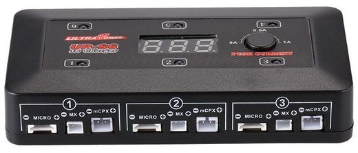 Универсальное зарядное устройство UP-S6 3.7V для Lipo LiHv аккумуляторов, с портами MICRO, MX, mCPX, USB фото