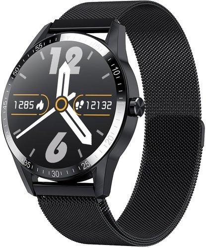 Умные часы Bakeey G20 Pro, металлический ремешок, черный фото