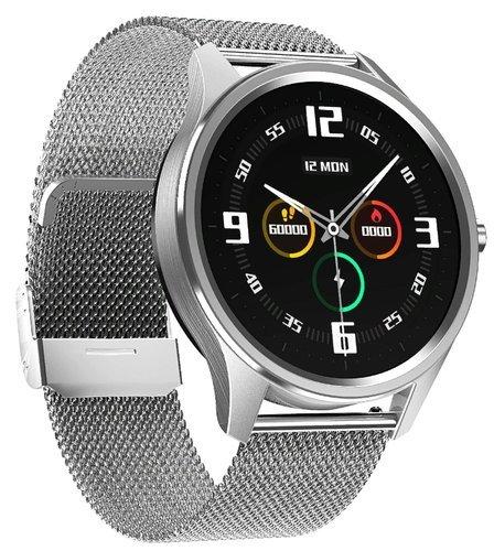 Умные часы DT No.1 DT55, стальной ремешок, серебристый фото