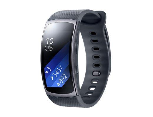 Умный браслет Samsung Gear Fit 2, черный фото