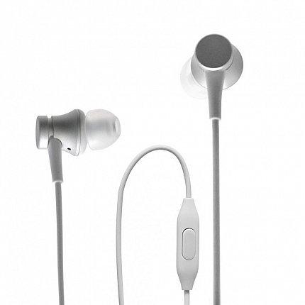 Наушники Xiaomi Mi In-Ear Headphones Basic, серебряный фото