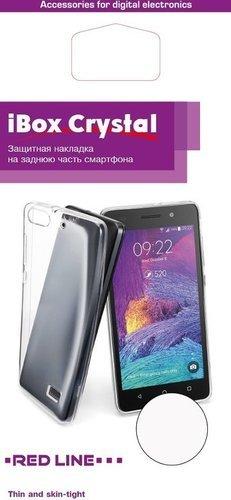 Чехол для смартфона Huawei Honor 8A Silicone iBox Crystal (прозрачный), Redline фото