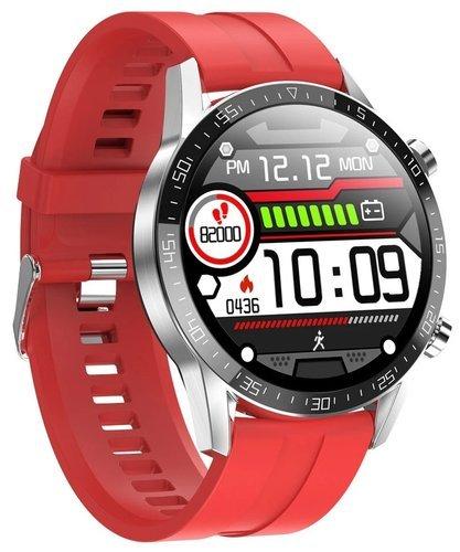 Умные часы Microwear T03, силиконовый ремешок, красный фото